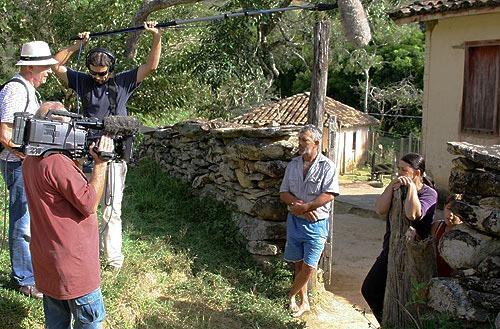 Equipe da Quimera Filmes, dirigida pelo cineasta Helvécio Ratton.