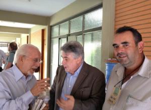 Da esquerda para direita: Aluísio Marques, da SerTãoBras, Ênio Rodrigues, consultor do MAPA e João Melo, produtor do Alto Paranaíba.