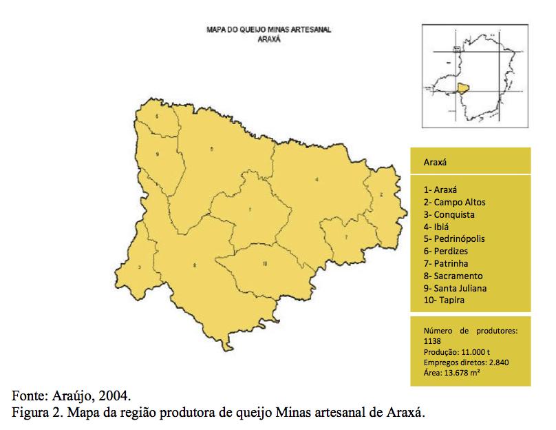 mapa araxa
