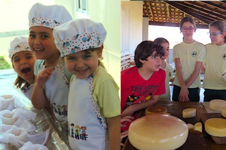 Crianças são educadas no queijo na Serra da Canastra