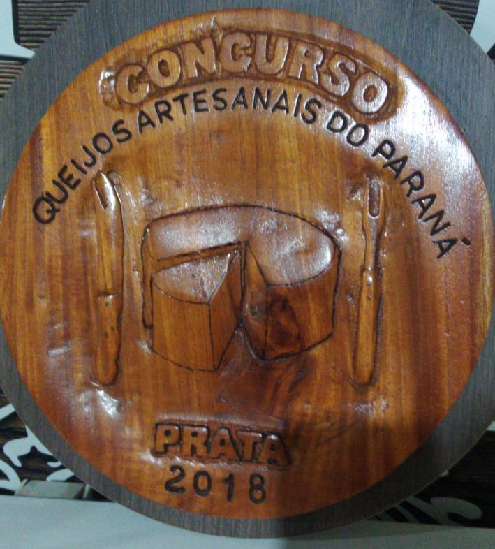 Medalha de prata no concurso de queijos do Paraná